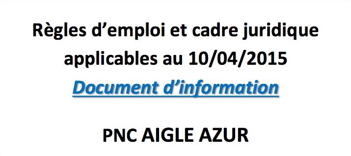 Document d'information : Règles d'emploi et cadre juridique applicables