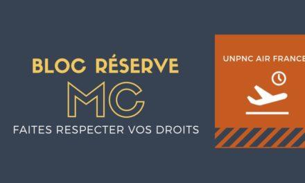BLOC RESERVE MC : FAITES RESPECTER VOS DROITS