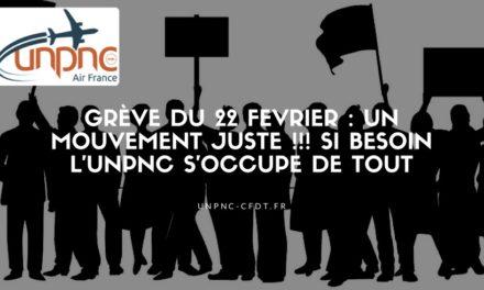 GREVE DU 22 FEVRIER : Un mouvement juste !!! Si besoin l'UNPNC s'occupe de tout