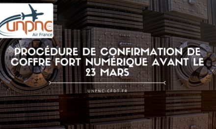 Procédure de confirmation de coffre fort numérique avant le 23 mars