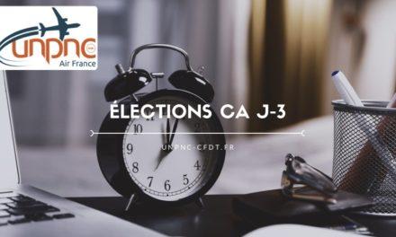 ÉLECTIONS CA J-3