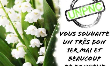 L'UNPNC vous souhaite un très bon 1er mai et beaucoup de bonheur