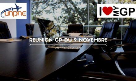 RÉUNION GP DU 9 NOVEMBRE