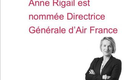 Anne Rigail est nommée Directrice Générale d'Air France