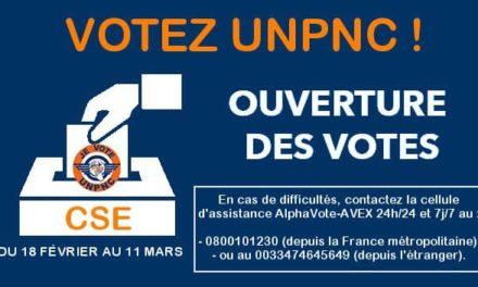 VOTEZ UNPNC ! OUVERTURE DES VOTES