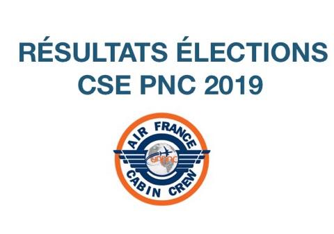 Résultats élections CSE PNC 2019