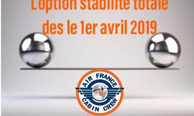 L'option stabilité totale dès le 1er avril 2019