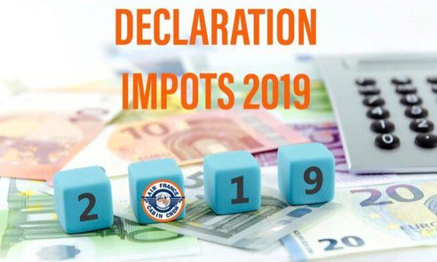 DECLARATION IMPOTS 2019