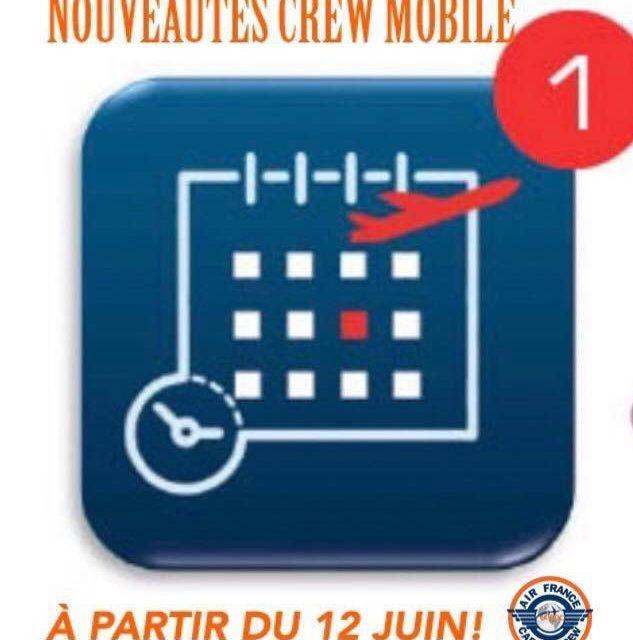 CrewMobile, des nouveautés arrivent à partir du 12 JUIN!