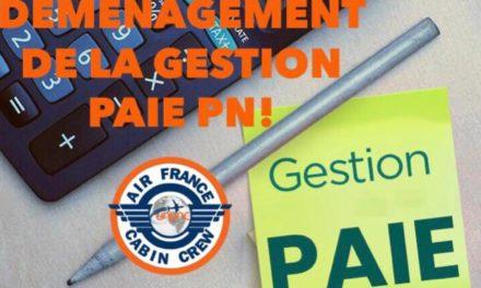 DÉMÉNAGEMENT DE LA GESTION PAIE PN