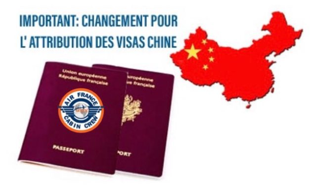 IMPORTANT : CHANGEMENT POUR L'ATTRIBUTION DES VISAS CHINE