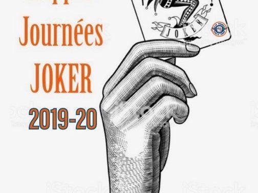 Rappel journées JOKER 2020