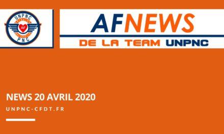 📌 AF NEWS DE LA TEAM UNPNC DU 20 AVRIL 2020❗