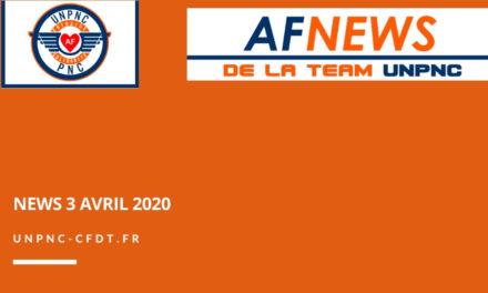 📌 AF NEWS DE LA TEAM UNPNC DU 3 AVRIL 2020❗