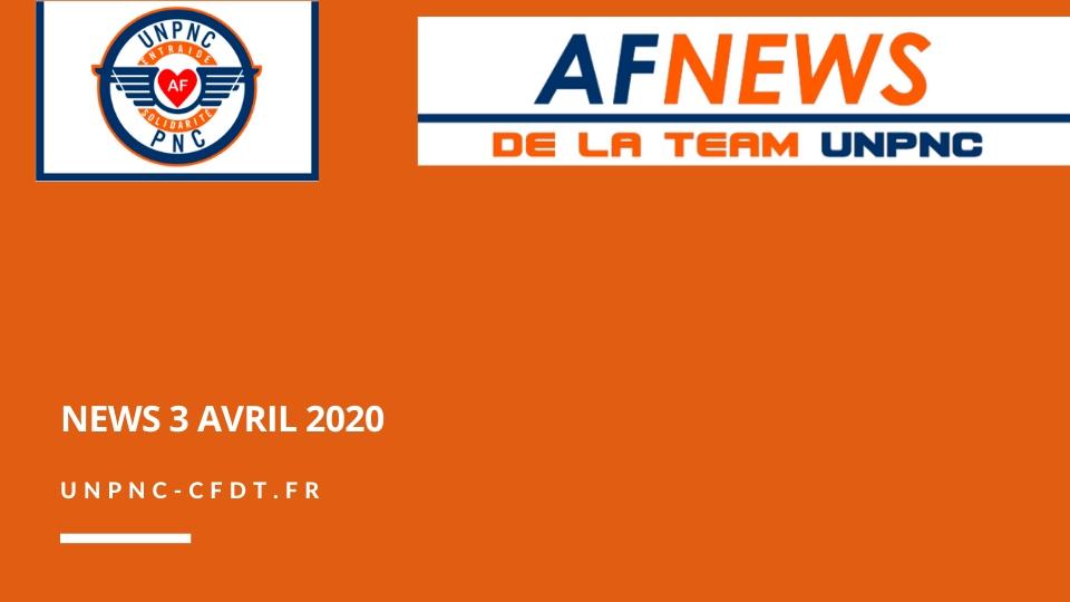 ? AF NEWS DE LA TEAM UNPNC DU 3 AVRIL 2020❗