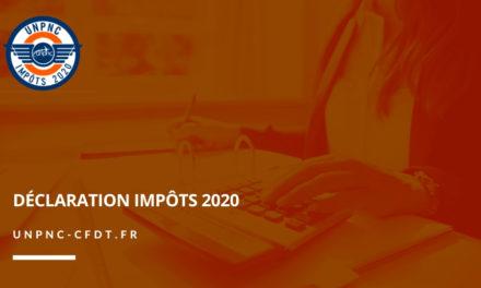 DÉCLARATION IMPÔTS 2020