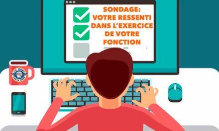 📌IMPORTANT 👉🏻 SONDAGE: VOTRE RESSENTI DANS L'EXERCICE DE VOTRE FONCTION❗️
