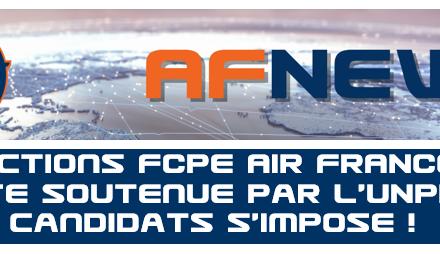 Élections FCPE AIR FRANCE : la liste soutenue par l'UNPNC et ses candidats s'impose !