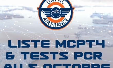 📌 LISTE MCPT4 ET TESTS PCR AU 5 OCTOBRE 2021 ❗️